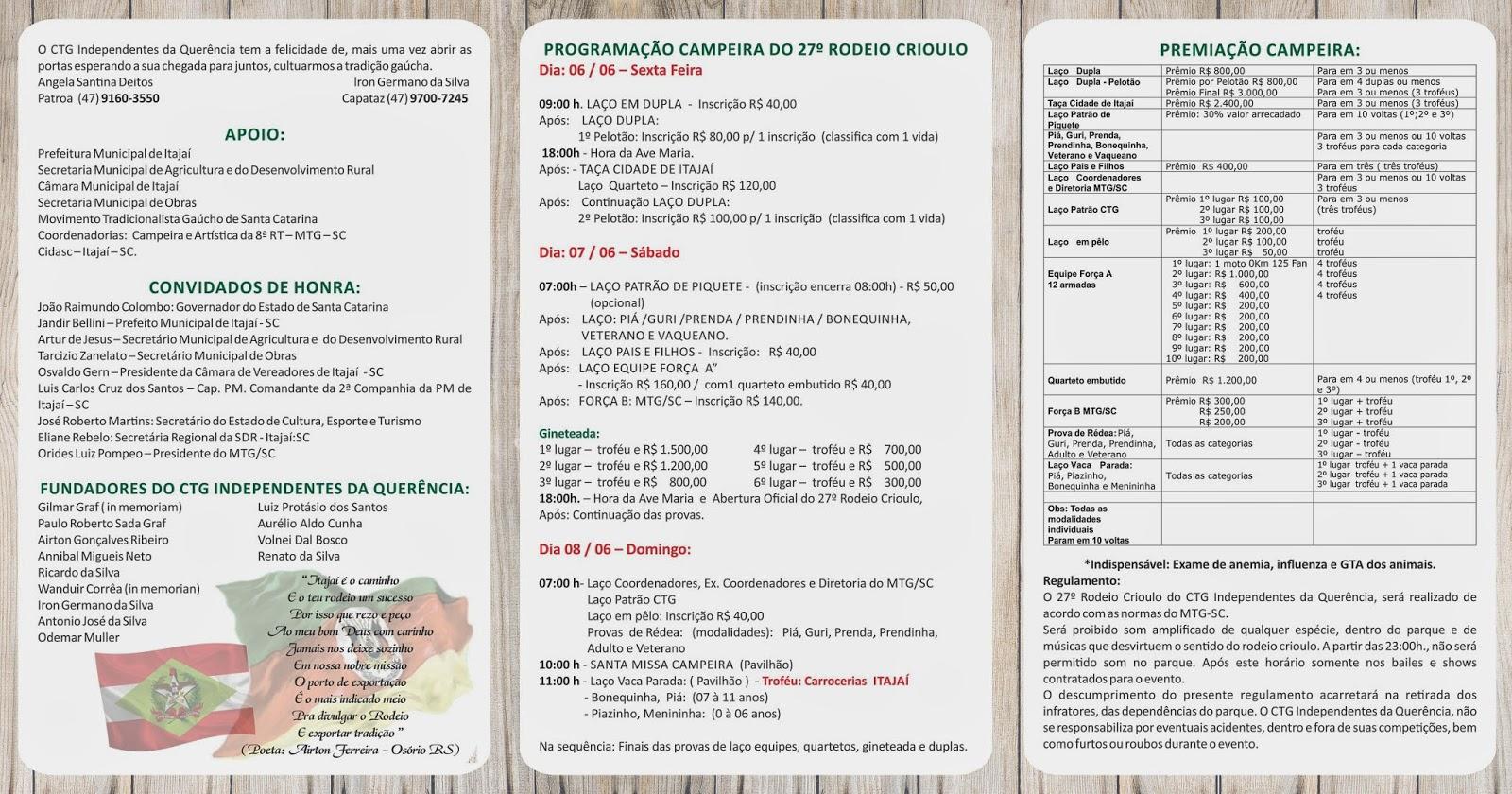 27º Rodeio Crioulo do CTG Independentes da Querência - Itajaí SC -2