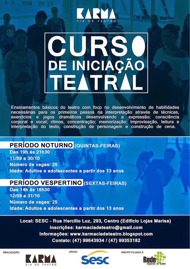 Karma Cia. de Teatro oferece o Curso de Iniciação Teatral em Itajaí