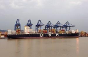 Portonave bate recorde sul-americano de produtividade operacional - MSC Agrigento