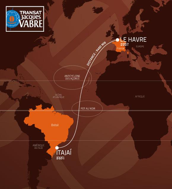 Itajaí será ponto de chegada da Transat Jacques Vabre 2015-